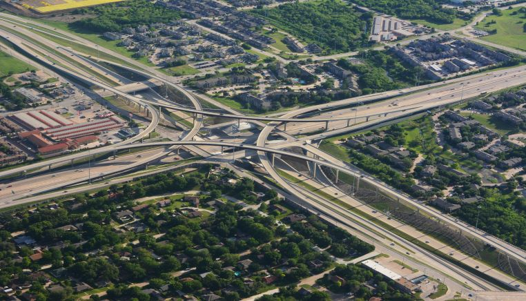 motorway intersection aerial